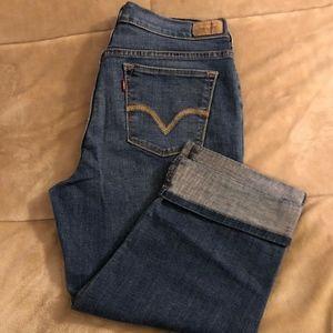 Levi's 515 Size 8 Mid-Rise Cuffed Capri Jeans